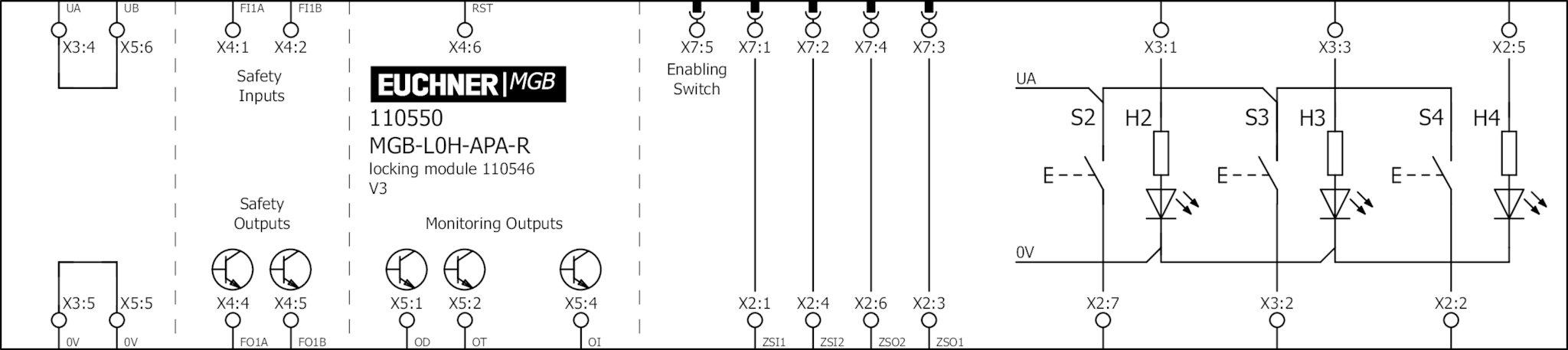 mgb wiring diagram symbols mgb l0h apa r 110550 interlocking set mgb l0h apa   with 3 push  mgb l0h apa r 110550 interlocking set