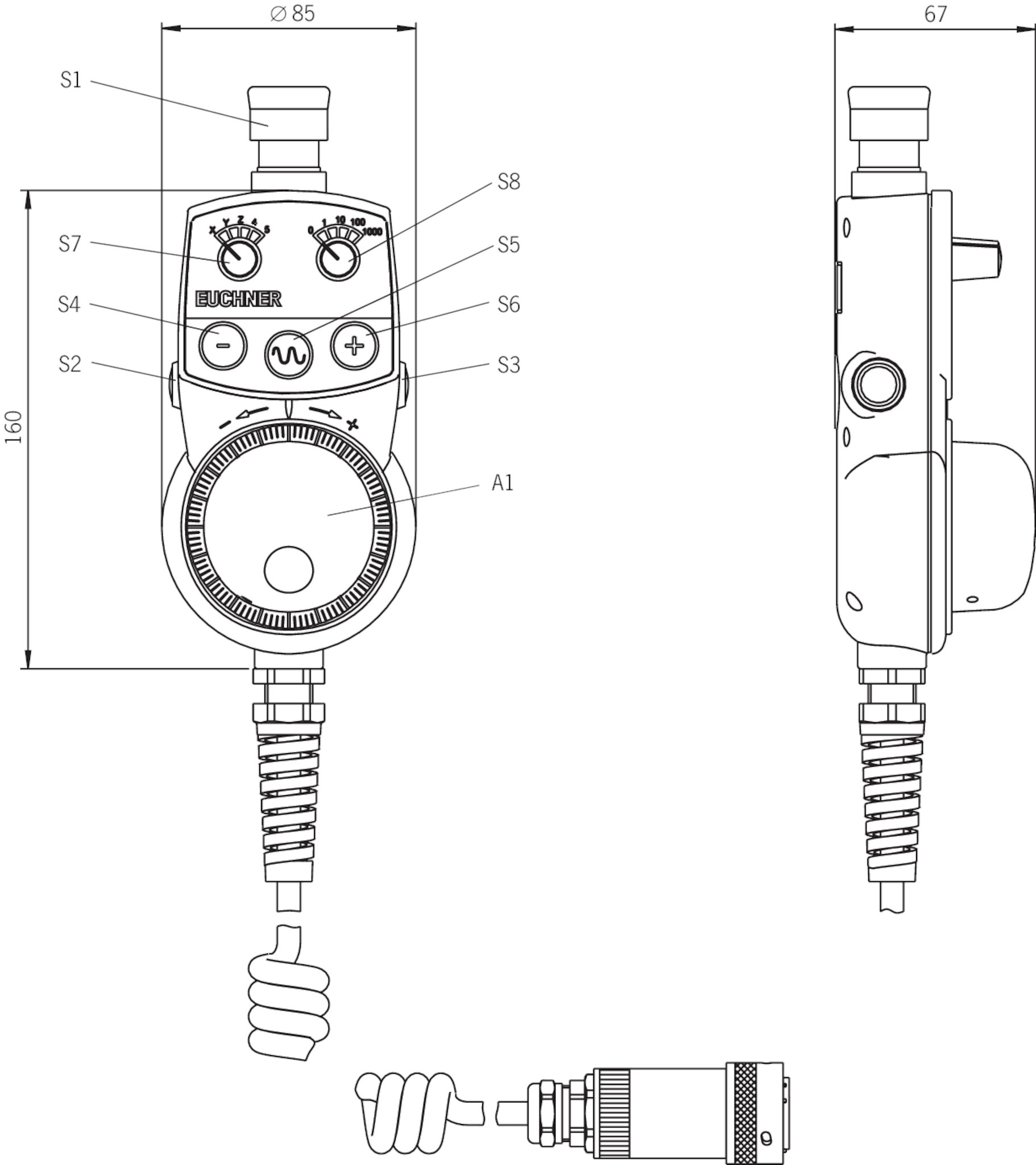 HBA-079827 | EUCHNER – More than safety. on pendant controllers diagram, pendant cable, pendant switch, pendant speaker,
