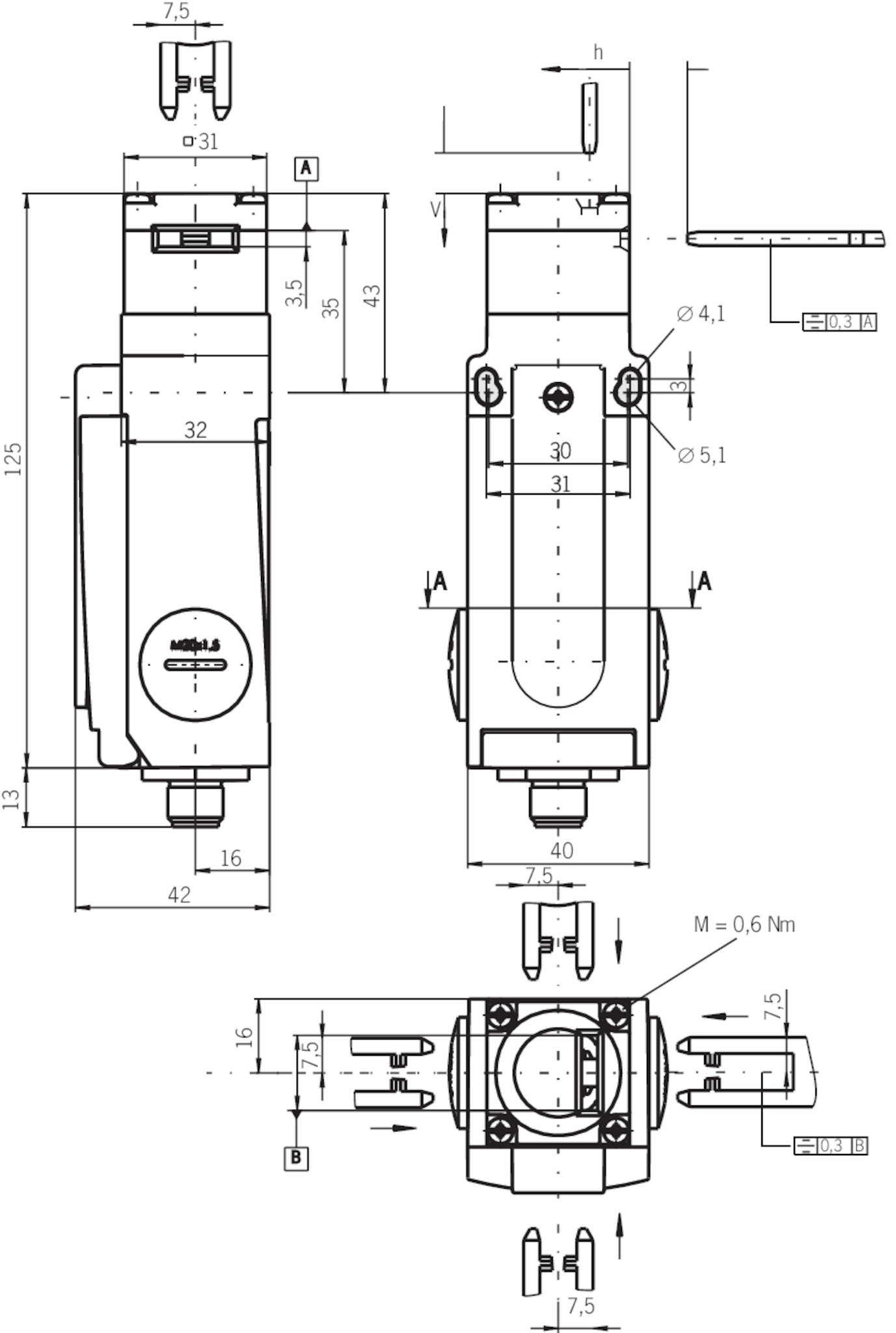gp3 538asem4as1 safety switch gp asi plug connector m12. Black Bedroom Furniture Sets. Home Design Ideas