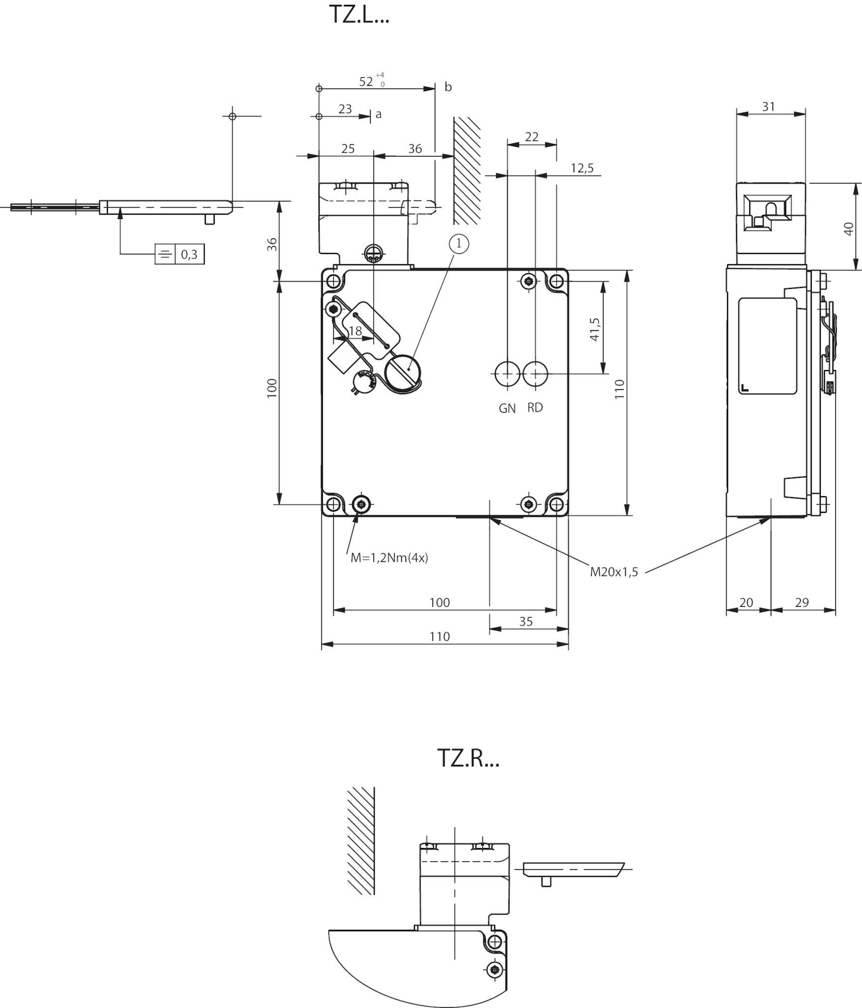 Sch/ütz 230V 2P 20A 1NO 1NC Haushalt AC Sch/ütz DIN-Schienen-Montage Sch/ützzubeh/ör 220V