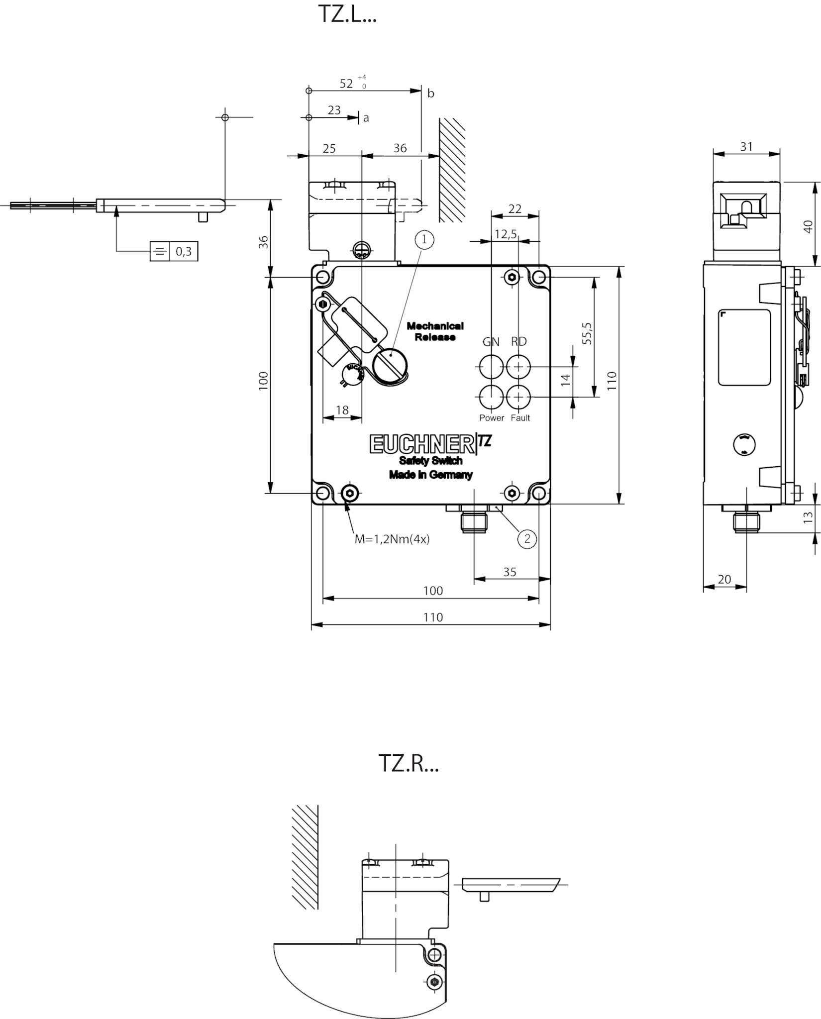 Euchner TZ1LE024SEM4AS1-C1937 NEU