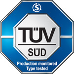 Zulassung TÜV Süd, BMPB mit ZG: Production monitored, Type tested