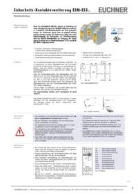 Esm Es301 Contact Expansion Esm Es 3 Safety Contacts 1